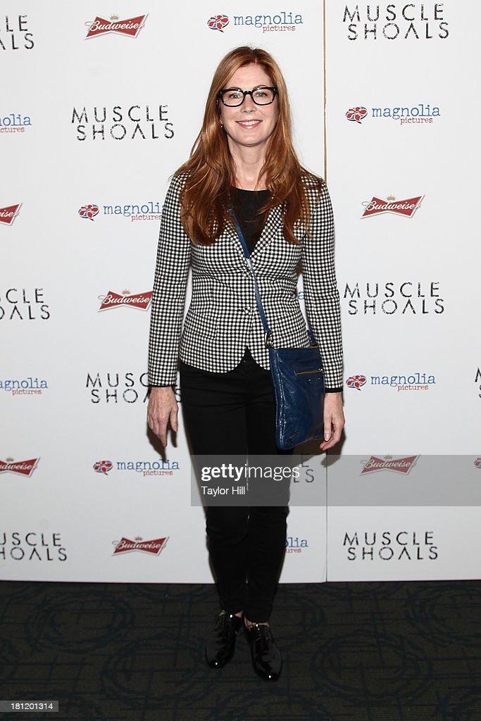 Dana Delaney attends the 'Muscle Shoals' New York screening at Landmark Sunshine Cinemas on September 19, 2013 in New York City.