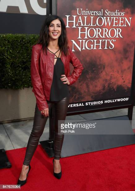 Dana DeLorenzo attends Halloween Horror Nights Opening Night Red Carpet at Universal Studios Hollywood on September 15 2017 in Universal City...