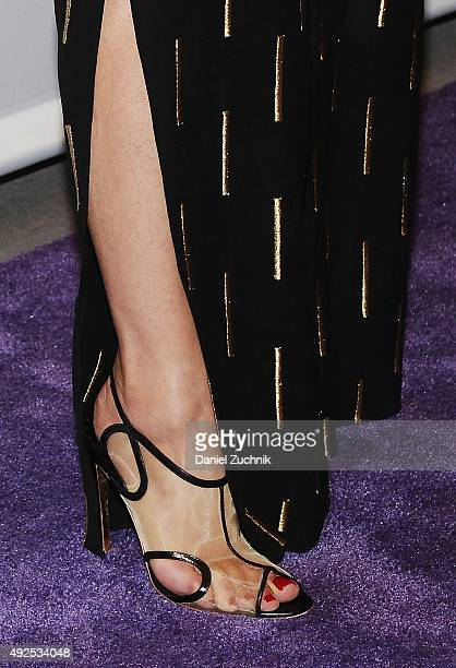 Dana DeLorenzo heels detail attends the 'Ash Vs Evil Dead' panel during PaleyFest New York 2015 at The Paley Center for Media on October 13 2015 in...