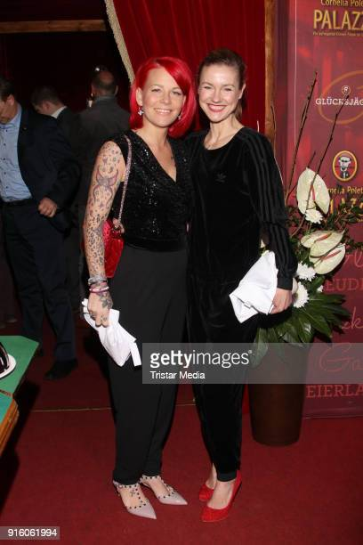 Dana Diekmeier and Rhea Harder during the Poletto Palazzo Charity Event on February 8 2018 in Hamburg Germany