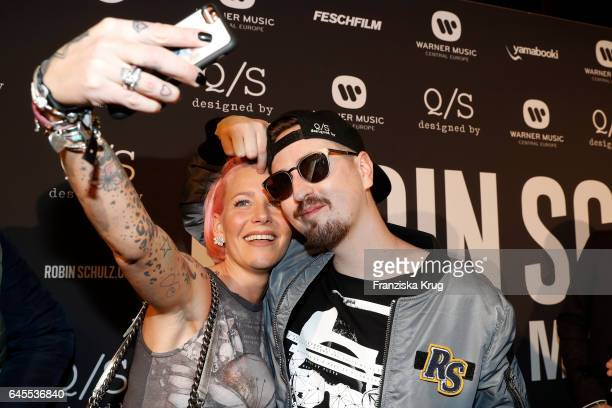 Dana Diekmeier and Robin Schulz attend the 'Robin Schulz The Movie' world premiere at Cinemaxx on February 24 2017 in Hamburg Germany