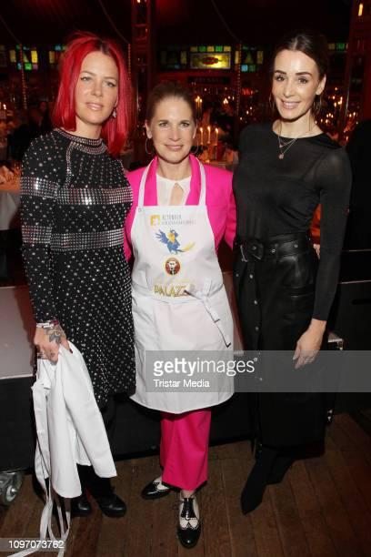 Dana Diekmeier, Cornelia Poletto, Anne-Kathrin Ertl during the Palazzo by Cornelia Poletto charity event on February 7, 2019 in Hamburg, Germany.