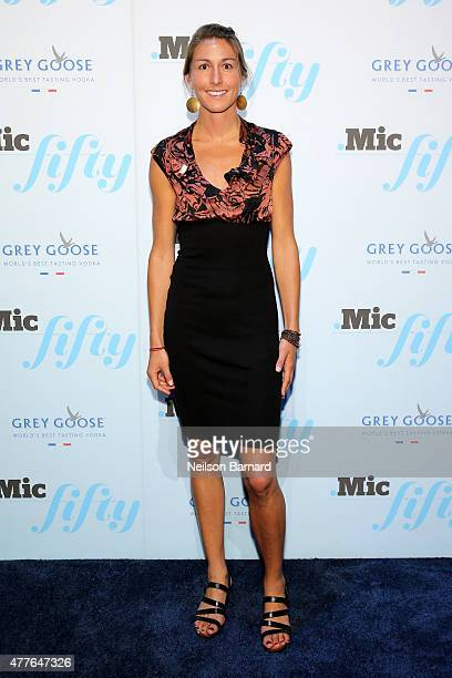 Dana Franz attends GREY GOOSE Vodka Hosts The Inaugural Mic50 Awards at Marquee on June 18 2015 in New York City