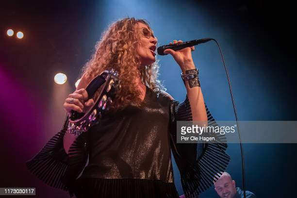 Dana Fuchs and Nicola Venturini perform on stage at the Blues in Hell Festival on September 7 2019 in Stjordal Norway
