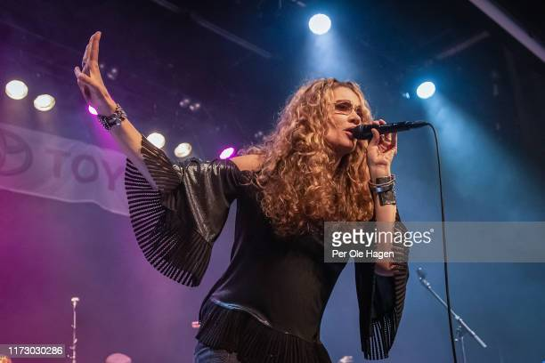 Dana Fuchs performs on stage at the Blues in Hell Festival on September 7 2019 in Stjordal Norway