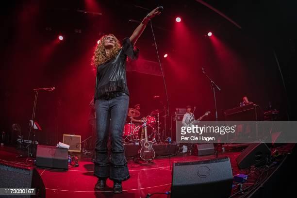 Dana Fuchs Piero Pirelli Walter Latupeirissa and Nicola Venturini perform on stage at the Blues in Hell Festival on September 7 2019 in Stjordal...