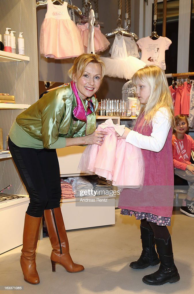 Dana Golombek and her daughter Luisa attend the 'Dimensione Danza' - Berlin store opening on March 8, 2013 in Berlin, Germany.