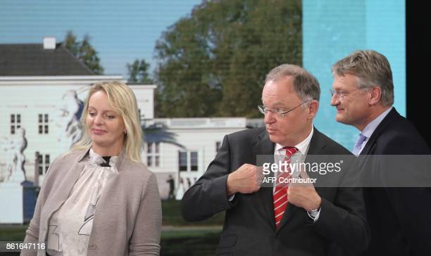 Dana Guth top candidate of Germany's far right AfD party Lower Saxony's State Premier Stephan Weil of the Social democratic SPD party and coleader of...