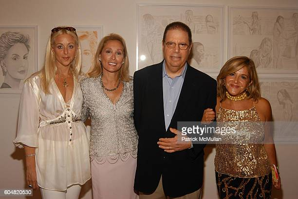 Dana Hammond Susan Hess Steven Ames and Leila Taghina Milani Heller attend Martin Saar in the eye of the Beholder Paintings Photographs at The Leila...