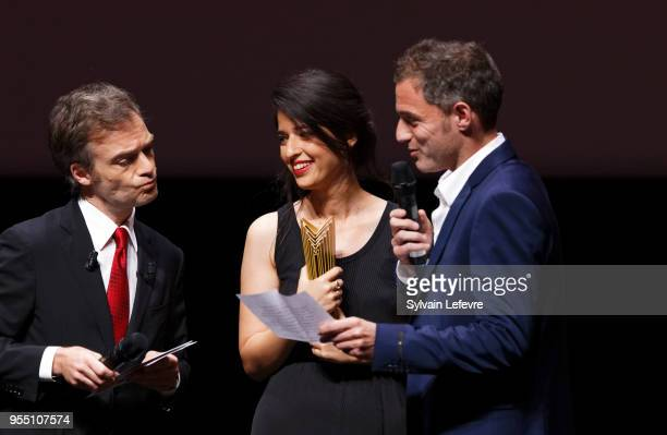 Dana Idisis and Yuval Shafferman accept Grand Jury Prize during the closing ceremony of Series Mania Lille Hauts de France festival on May 5 2018 in...