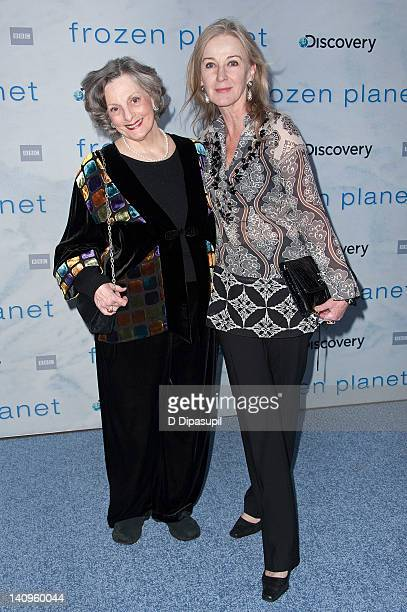 """Dana Ivey and Caroline Lagerfelt attend the """"Frozen Planet"""" premiere at Alice Tully Hall, Lincoln Center on March 8, 2012 in New York City."""