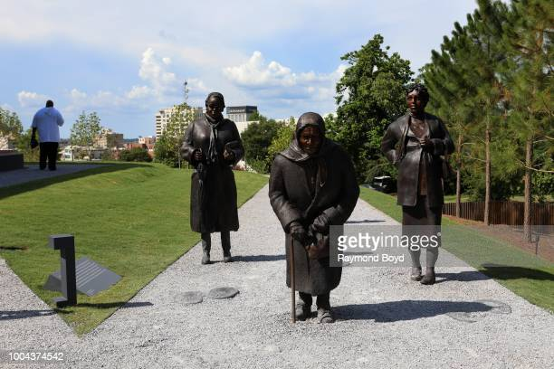 Dana King's 'Guided By Justice' statue, dedicated to black women who sustained the Montgomery Bus Boycott and collectively walked thousands of miles,...
