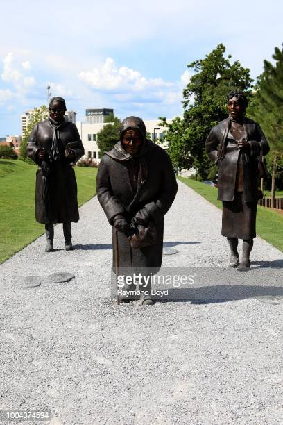 Dana King's 'Guided By Justice' statue dedicated to black women who sustained the Montgomery Bus Boycott and collectively walked thousands of miles...
