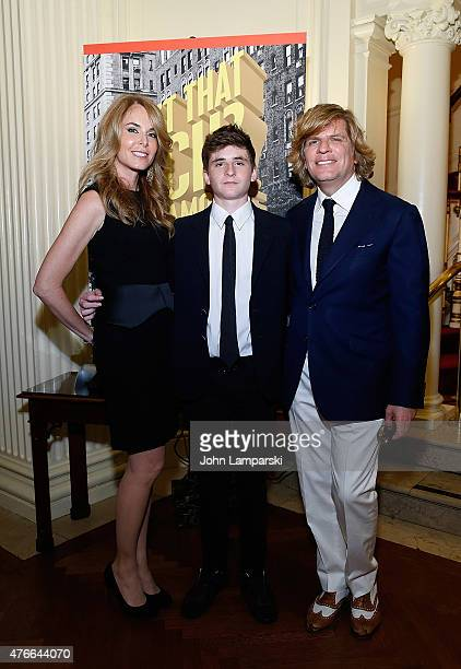 "Dana Kirshenbaum, Lucas Kirshenbaum and Richard Kirshenbaum attend Richard Kirshenbaum's ""Isn't That Rich? Life Among the 1%"" book launch party at..."