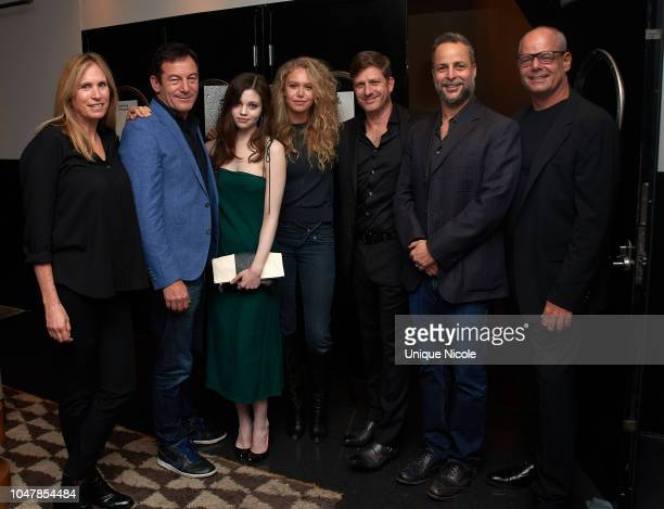 Dana Lustig Jason Isaacs India Eisley Penelope Mitchell Assaf Bernstein and Brad Kaplan attend Screening Of Vertical Entertainment's Look Away at...