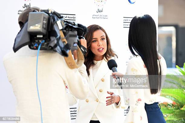 Dana Mado is interviewed by Al Jazeera during the Ajyal Youth Film Festival on December 3 2016 in Doha Qatar