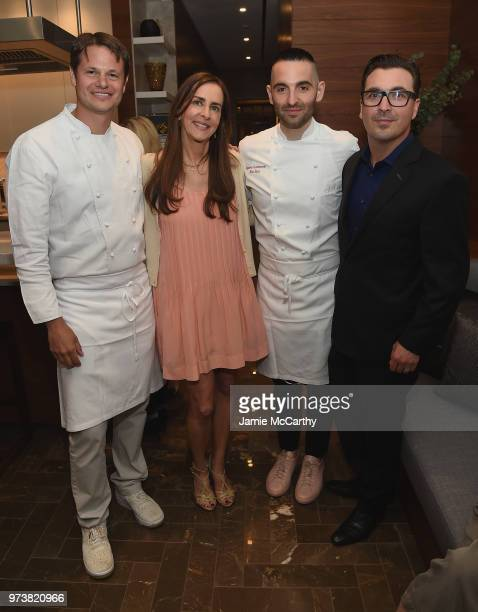 Dana Miller and John Amato attend An Evening At One West End With chefs Mario Carbone And Rich Torrisi on June 13 2018 in New York City