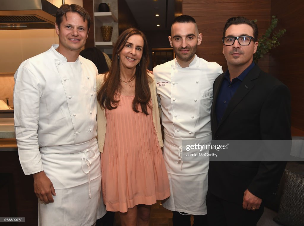 Dana Miller and John Amato attend An Evening At One West End With chefs Mario Carbone And Rich Torrisi on June 13, 2018 in New York City.