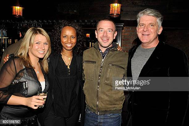 Dana Morgan Adrien Bowles Harlan Gulko and John Lyons attend THE CINEMA SOCIETY DETAILS host the after party for 'MILK' at Bowery Hotel on November...