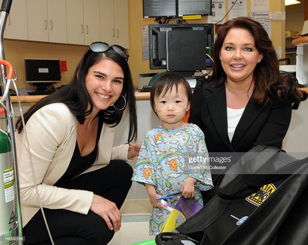 Boston Bruins Madness Comes To Children's Hospital Boston : News Photo