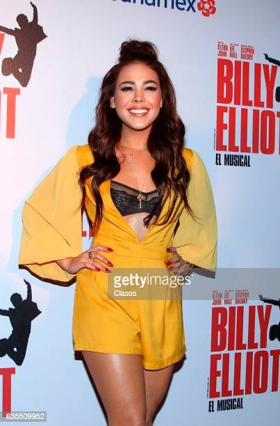 Dana Paola poses for the camera during the opening night of Billy Elliot Music Show on February 15 2017 in Mexico City Mexico