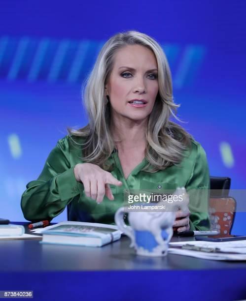 Dana Perino host of The Five interviews Jenna Bush Hager and Barbara Bush during The Five at Fox News Studios on November 13 2017 in New York City