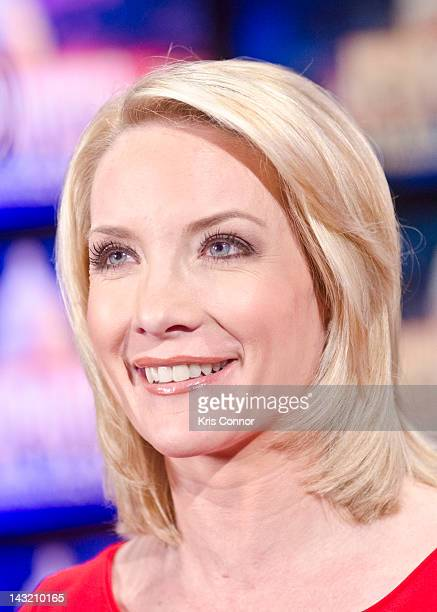 Dana Perino speaks during a rehearsal before a taping of Jeopardy Power Players Week at DAR Constitution Hall on April 21 2012 in Washington DC