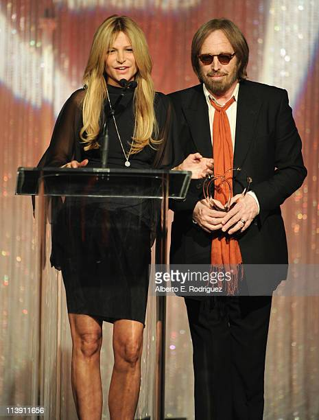 Dana Petty and singer Tom Petty speak at The Midnight Mission's 11th Annual Golden Hearts Awards on May 9 2011 in Beverly Hills California