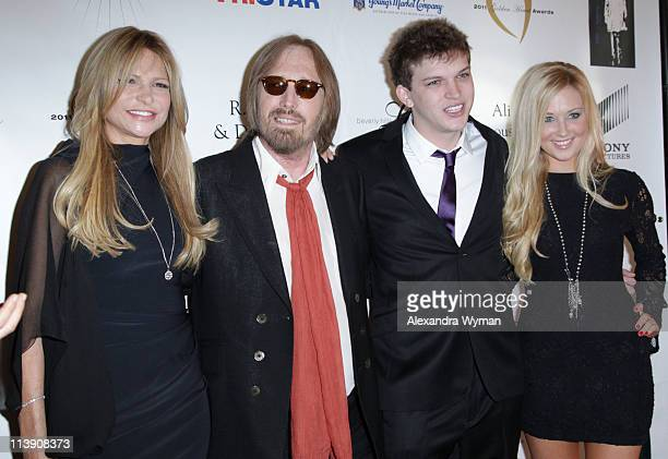 Dana Petty Tom Petty Dylan Petty and Guest at The 11th Annual Golden Heart Awards held at The Beverly Hilton hotel on May 9 2011 in Beverly Hills...