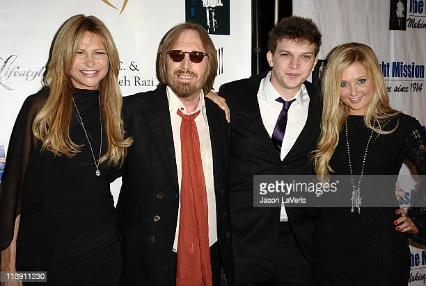 Dana Petty Tom Petty Dylan Petty and guest attend the 11th annual Golden Heart Awards at The Beverly Hilton hotel on May 9 2011 in Beverly Hills...