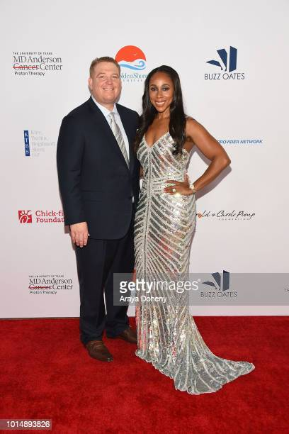 Dana Pump and Leah Pump attend the 18th Annual Harold and Carole Pump Foundation Gala at The Beverly Hilton Hotel on August 10 2018 in Beverly Hills...