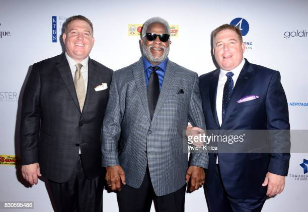 Dana Pump Earl Campbell and David Pump attend the 17th Annual Harold Carole Pump Foundation Gala at The Beverly Hilton Hotel on August 11 2017 in...