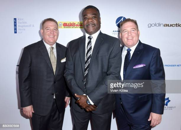 Dana Pump Eddie Murray and David Pump attend the 17th Annual Harold Carole Pump Foundation Gala at The Beverly Hilton Hotel on August 11 2017 in...