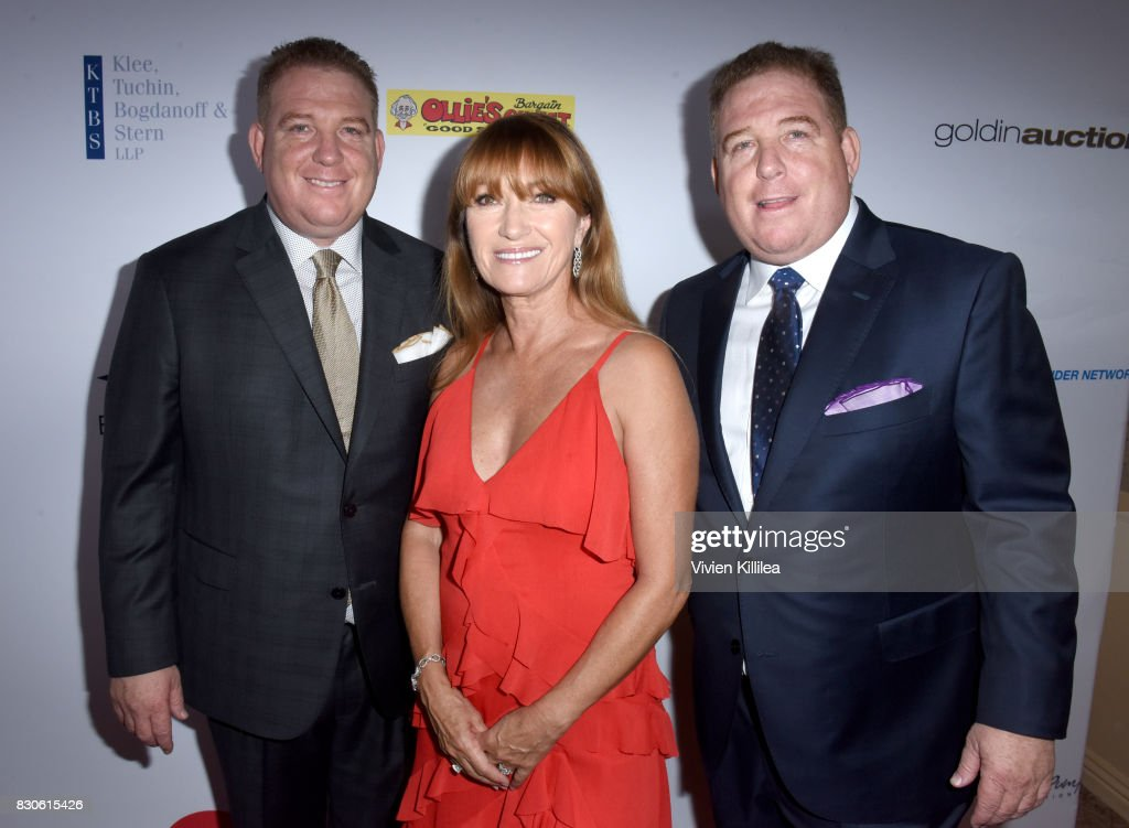 Dana Pump, Jane Seymour and David Pump attend the 17th Annual Harold & Carole Pump Foundation Gala at The Beverly Hilton Hotel on August 11, 2017 in Beverly Hills, California.