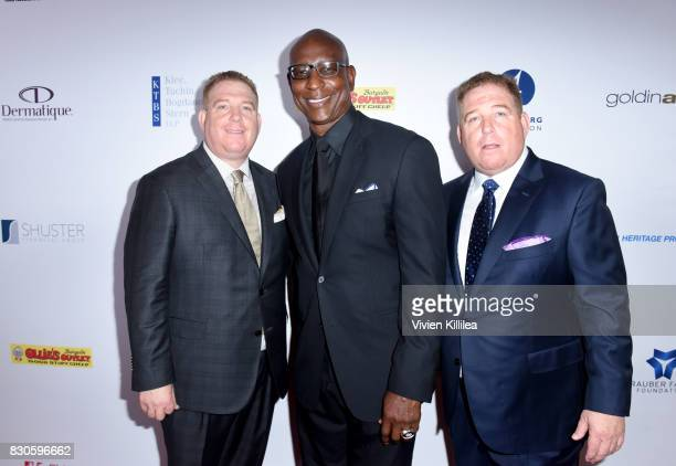 Dana PumpEric Dickerson and David Pump attend the 17th Annual Harold Carole Pump Foundation Gala at The Beverly Hilton Hotel on August 11 2017 in...