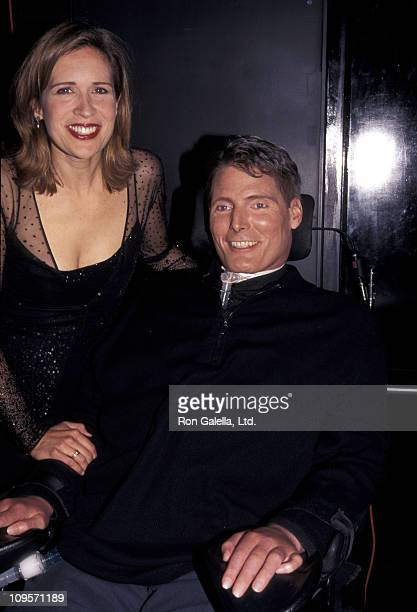 Dana Reeve and Christopher Reeve during Blue Light Theater Company Benefit - May 4, 1998 at Irving Plaza in New York City, New York, United States.