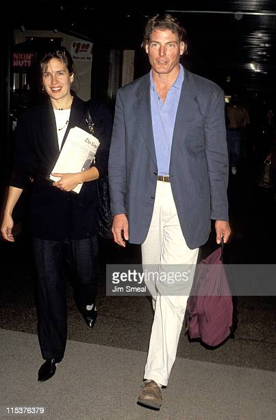 Dana Reeve and Christopher Reeve during Christopher and Dana Reeve at Los Angeles International Airport - October 26, 1993 at Los Angeles...