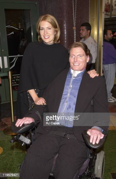Dana Reeve and Christopher Reeve during First You Dream... A Tribute to Courage - Honoring Christopher Reeve and Bran Pace at The New Amsterdam...