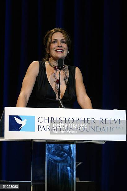 """Dana Reeve attends the Christopher Reeve Paralysis Foundation 13th Annual """"A Magical Evening"""" Gala at the Marriot Marquis Hotel November 24, 2003 in..."""
