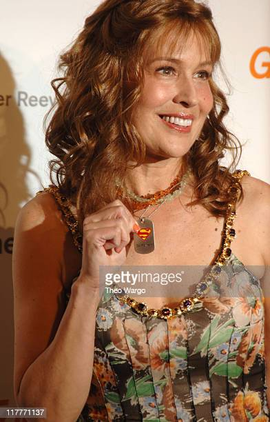 """Dana Reeve during The Christopher Reeve Foundation's """"A Magical Evening"""" - Red Carpet at Marriott Marquis in New York, New York, United States."""