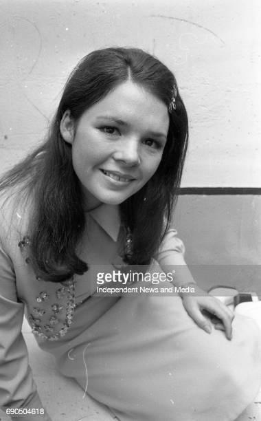 Dana Rosemary Scallon in the National Stadium winner of the Eurovision in 1970 circa October 1970