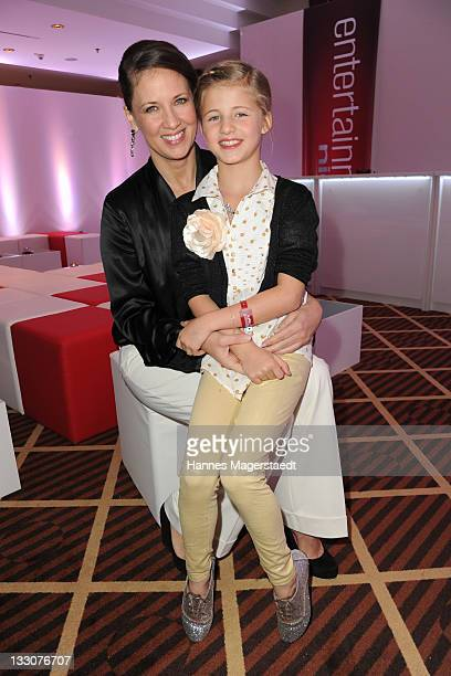Dana Schweiger and daughter Emma Schweiger attend the Video Entertainment Night at The Westin Grand on November 16 2011 in Munich Germany