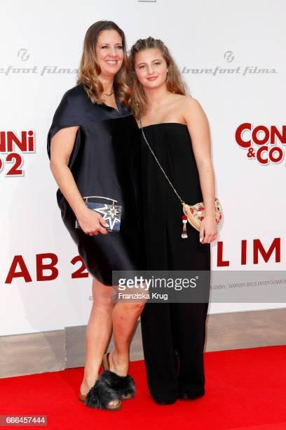 Dana Schweiger and her daughter Emma Schweiger attend the 'Conni Co 2 Das Geheimnis des TRex' premiere on April 9 2017 in Berlin Germany