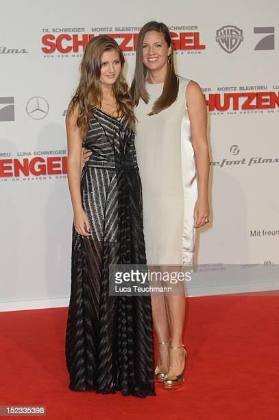Dana Schweiger and Lilli Schweiger attend the premiere of 'Schutzengel' at Sony Center on September 18 2012 in Berlin Germany