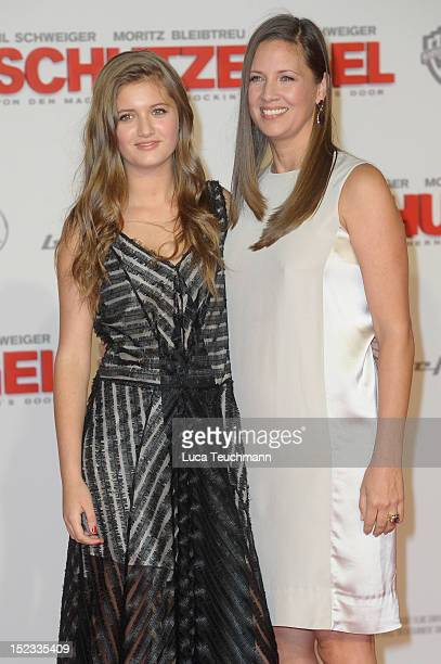 Dana Schweiger and Lilli Schweiger attend the premiere of 'Schutzengel' at Sony Center on September 18 2012 in Berlin Germany