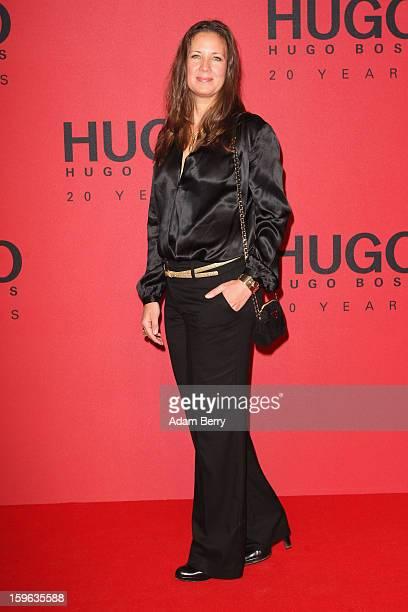 Dana Schweiger attends Hugo By Hugo Boss Autumn/Winter 2013/14 fashion show during MercedesBenz Fashion Week Berlin at The Brandenburg Gate on...