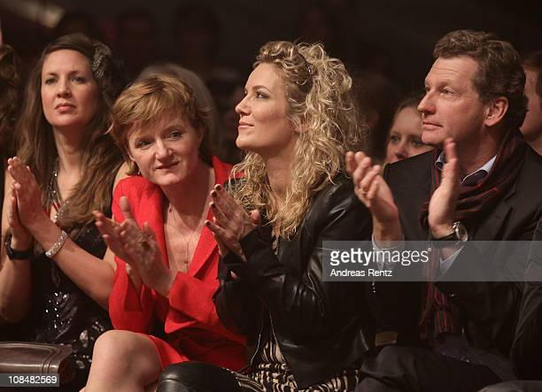 Dana Schweiger Nina Petri Jessica Stockmann and Bernd Buchholz attend the BRIGITTE fashion event at the Hamburg Cruise Center on January 28 2011 in...