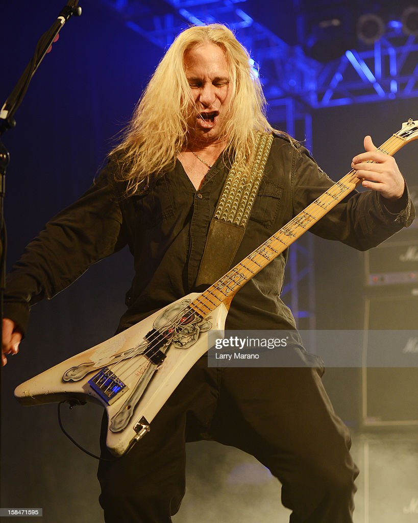 Dana Strum of the Vince Neil band performs at Seminole Casino Coconut Creek on December 15, 2012 in Coconut Creek, Florida.