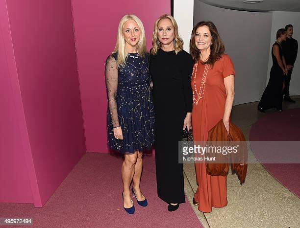 Dana Stubgen, Tiqui Atencio and Debra Black attend the 2015 Guggenheim International Gala Dinner made possible by Dior at Solomon R. Guggenheim...