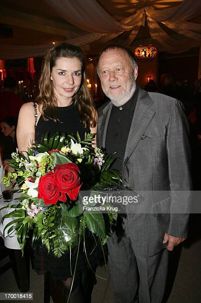 Dana Vavrova And husband Joseph Vilsmaier In the movie premiere of The Last train In Berlin